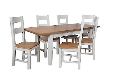 Stupendous Dorset Oak Extending Dining Table Solid 8 Chairs Pine In Painted French Grey Inzonedesignstudio Interior Chair Design Inzonedesignstudiocom