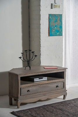 on sale 7cd41 d0108 Bourdeilles Corner TV Cabinet Stand Unit Solid Shabby Chic in Mango Free  Del!!