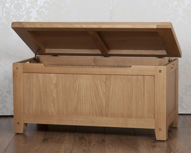 Amazing Solid Oak Storage Ottoman Blanket Box In Chunky Harrogate Natural Free Del Alphanode Cool Chair Designs And Ideas Alphanodeonline